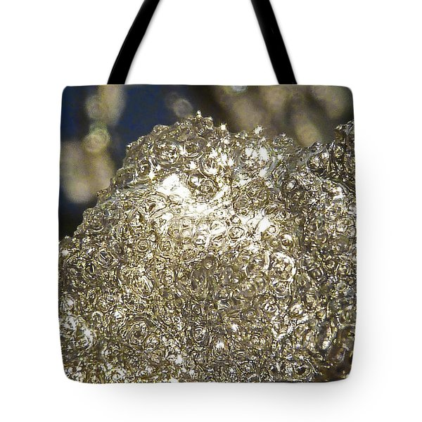 Tote Bag featuring the photograph All That Glitters Is Definitely Cold by Steve Taylor