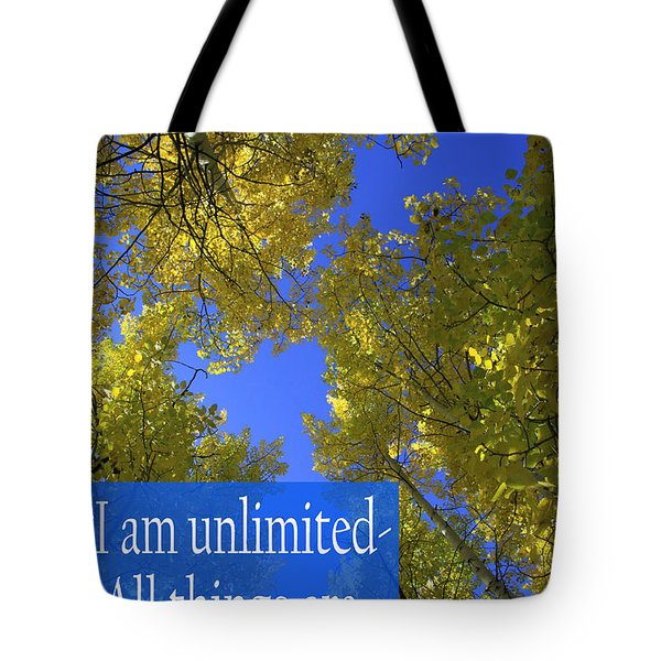 All Things Are Possible Tote Bag by Dana Kern