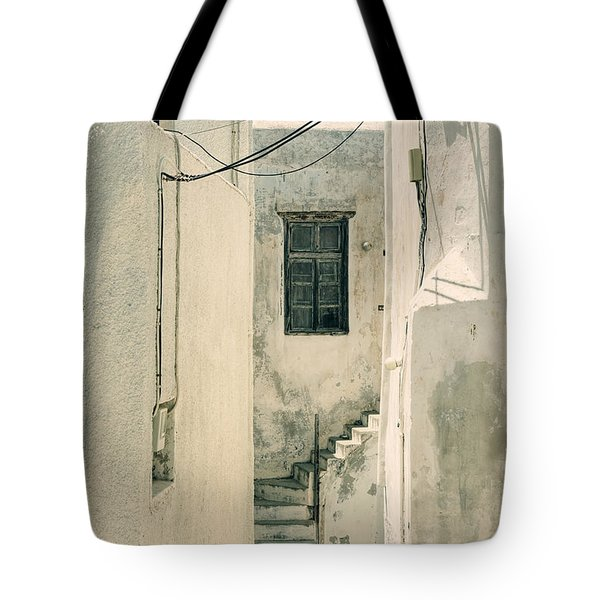 alley in Greece Tote Bag by Joana Kruse