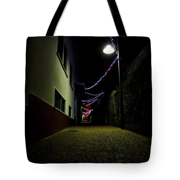 Alley With Lights Tote Bag