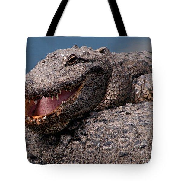 Alligator Smile Tote Bag