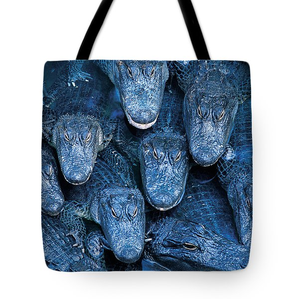 Alligators Tote Bag by Gary Meszaros and Photo Researchers