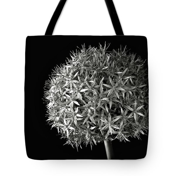 Tote Bag featuring the photograph Allium In Black And White by Endre Balogh