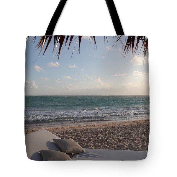 Alluring Tropical Beach Tote Bag by Karen Lee Ensley