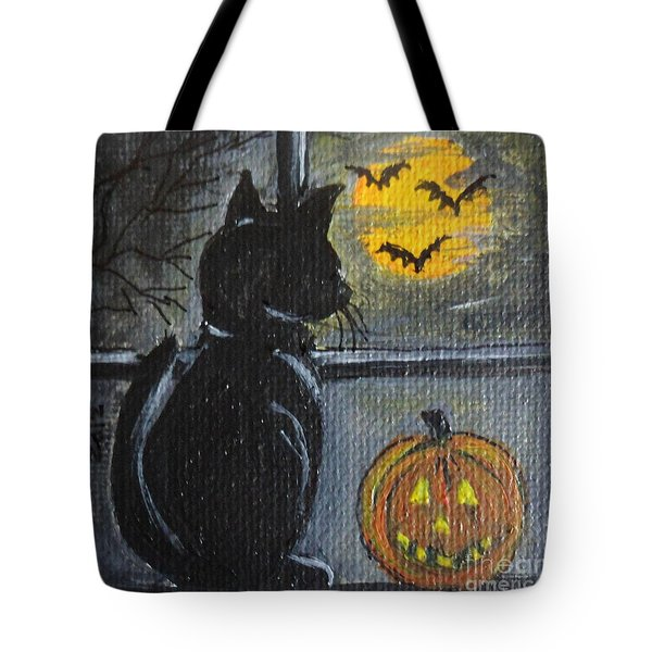 Almost Midnight Tote Bag by Julie Brugh Riffey