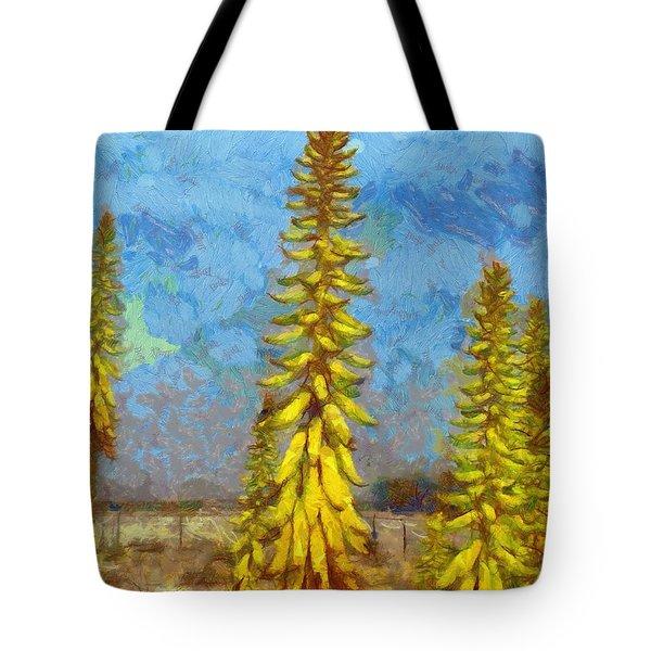 Aloe Vera Flowers Tote Bag