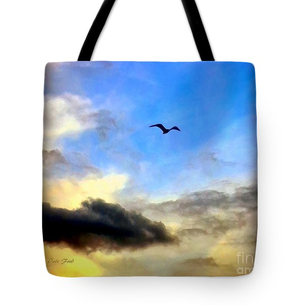 Alone In A Big Sky Tote Bag