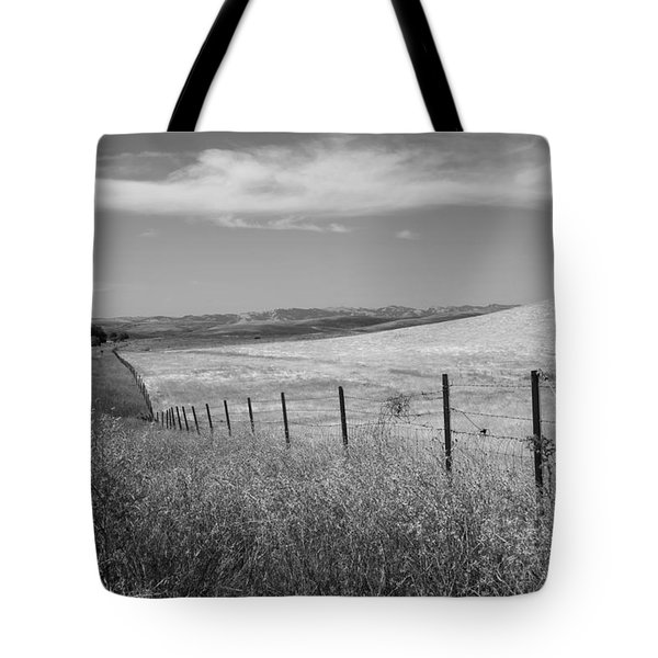 Tote Bag featuring the photograph Along The Line by Kathleen Grace
