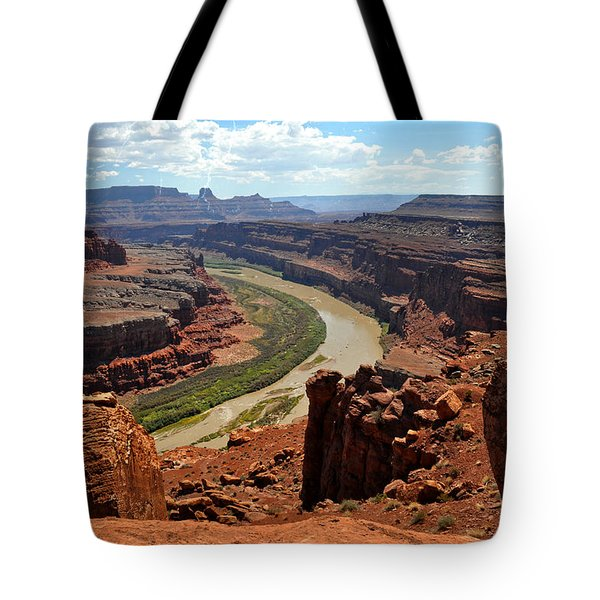 Along The White Rim Road Tote Bag by Marty Koch