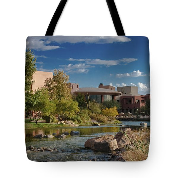 Tote Bag featuring the photograph Along The Wild Horse River by Jim Moore