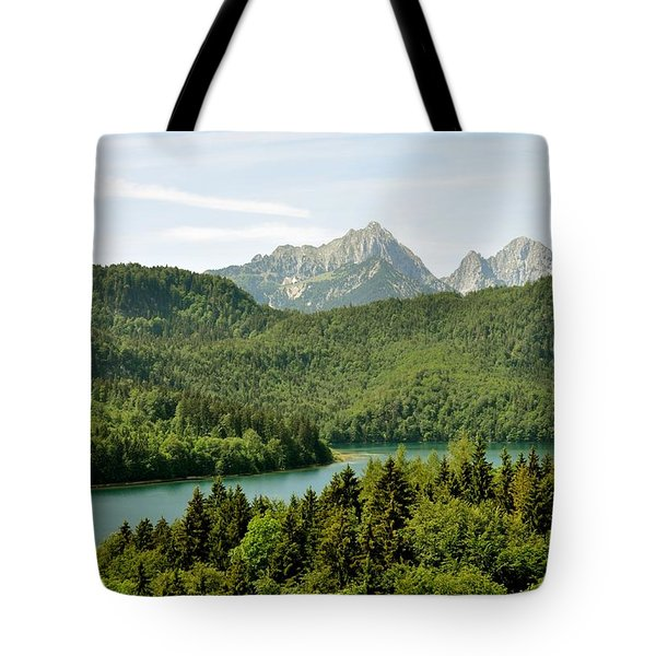 Alps From Bavaria Tote Bag by Rick Frost