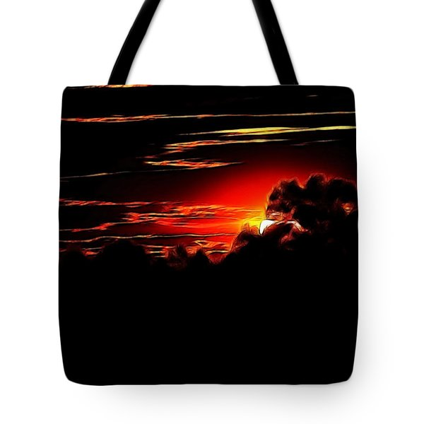 Altered Sunset Tote Bag