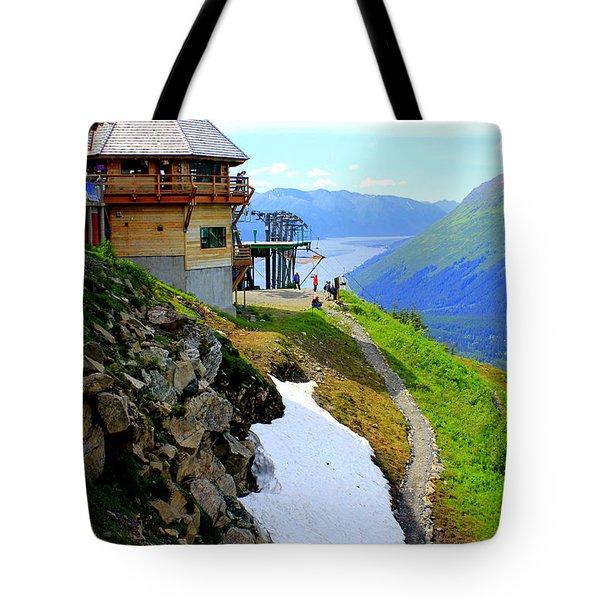 Tote Bag featuring the photograph Alyeska Ski Resort Alaska by Kathy  White