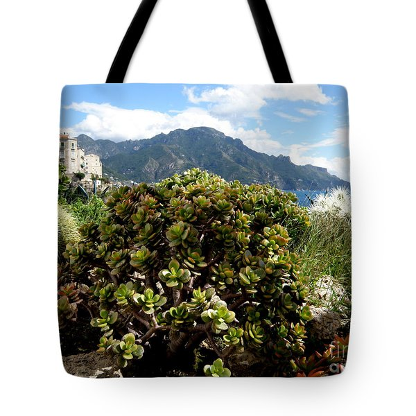 Amalfi Coast Succulents Tote Bag by Tanya  Searcy