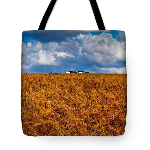 Amber Waves Of Grain Tote Bag by Doug Long