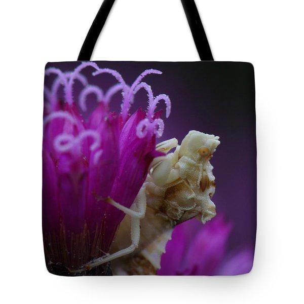 Ambush Bug On Tall Ironweed Tote Bag