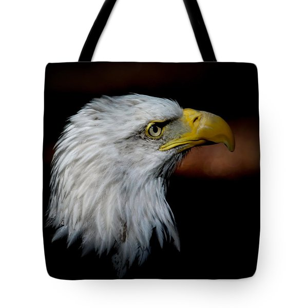 Tote Bag featuring the photograph American Bald Eagle by Steve McKinzie