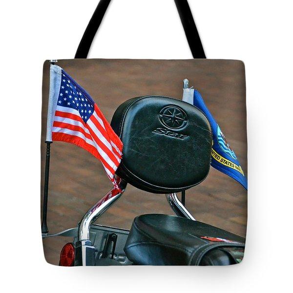 American Biker Tote Bag by Carol  Bradley