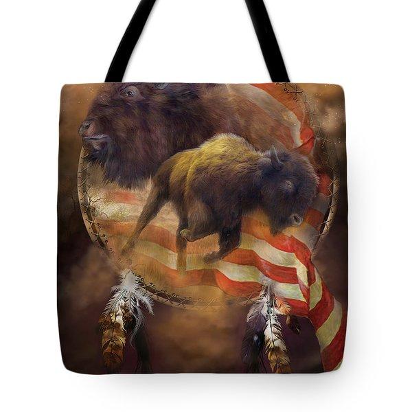 American Buffalo Tote Bag by Carol Cavalaris