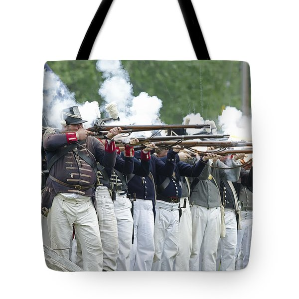 American Firing Line Tote Bag by JT Lewis