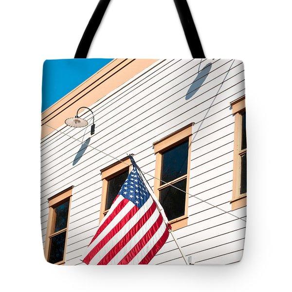 American Flag Tote Bag by Tom Gowanlock