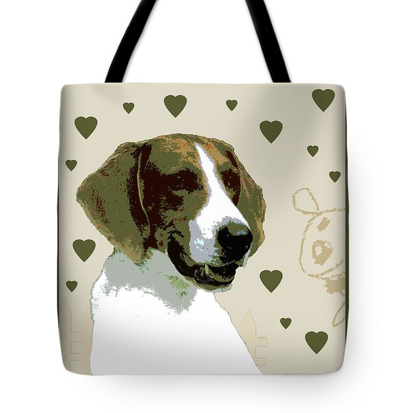 American Fox Hound Tote Bag by One Rude Dawg Orcutt