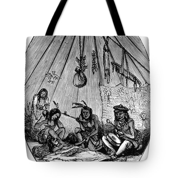 American Indian Medicine Lodge, 1868 Tote Bag by Science Source