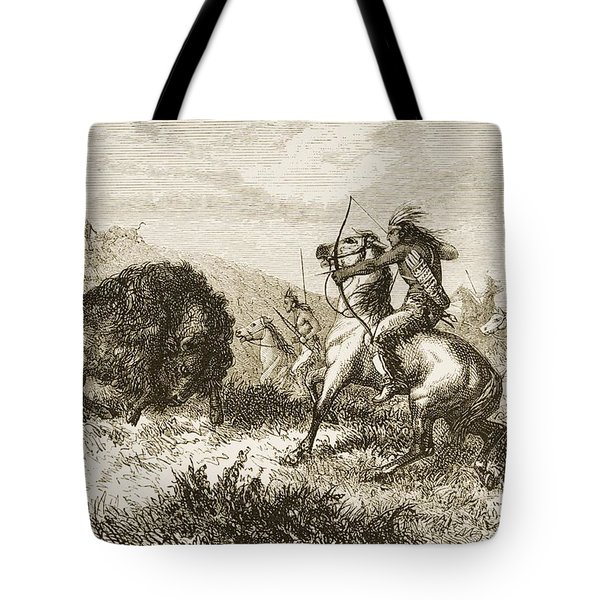 American Indians Buffalo Hunting. From Tote Bag by Ken Welsh