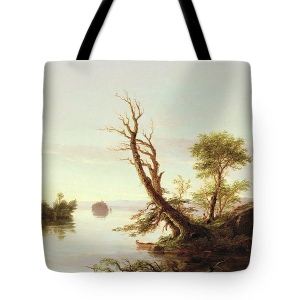 American Lake Scene Tote Bag by Thomas Cole