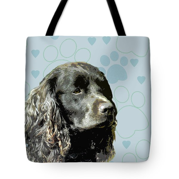 American Water Spaniel Tote Bag by One Rude Dawg Orcutt