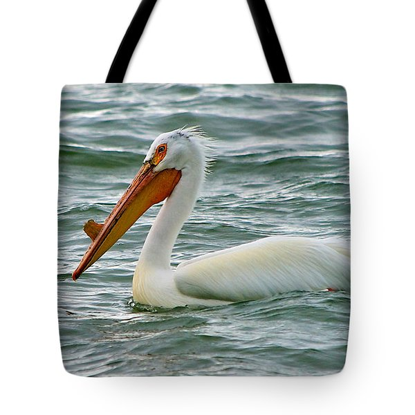 American White Pelican Tote Bag by Stephen  Johnson