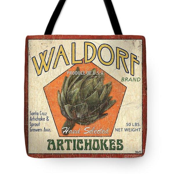 Americana Veggies Tote Bag by Debbie DeWitt