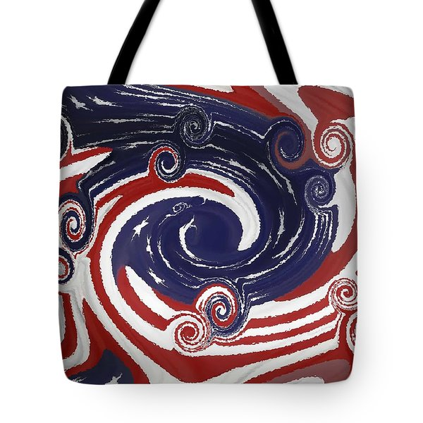Americas Palette Tote Bag by DigiArt Diaries by Vicky B Fuller