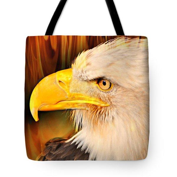 Americasn Bald Eagle Tote Bag by Marty Koch