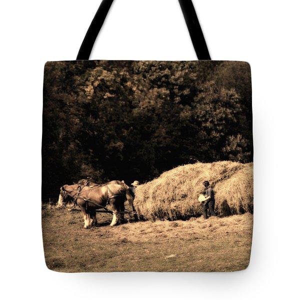 Amish Hay Wagon Tote Bag