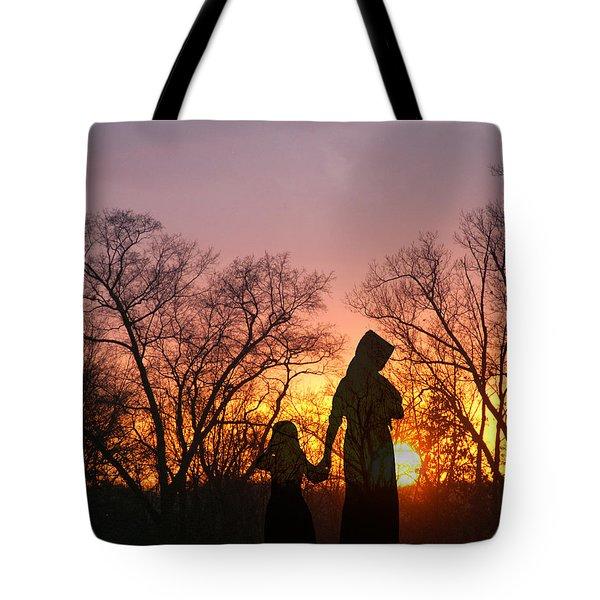 Amish Sisters Tote Bag
