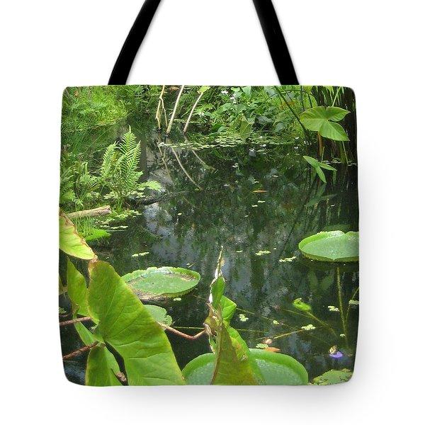 Among The Lily Pads Tote Bag