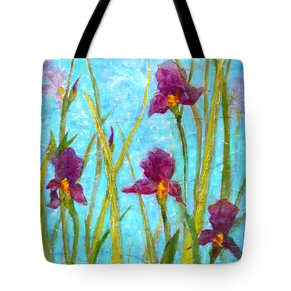 Among The Wild Irises Tote Bag by Carla Parris