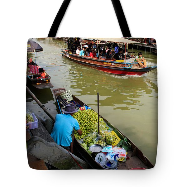 Ampawa Floating Market Tote Bag by Adrian Evans