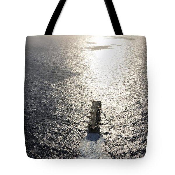 Amphibious Assault Ship Uss Boxer Tote Bag by Stocktrek Images
