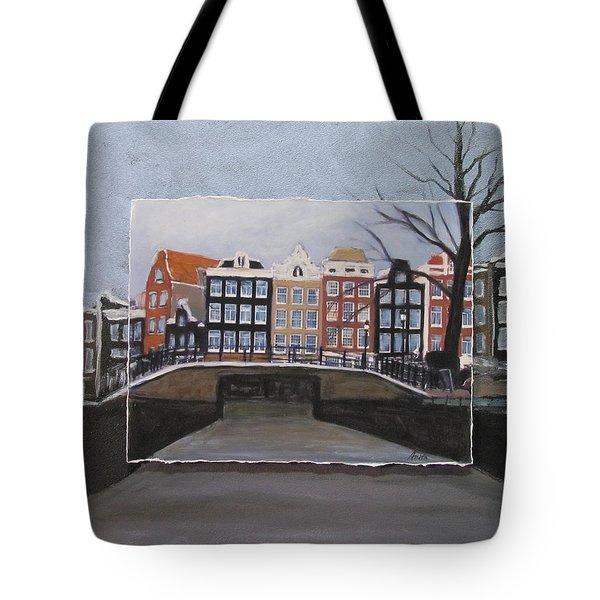 Amsterdam Bridge Layered Tote Bag by Anita Burgermeister