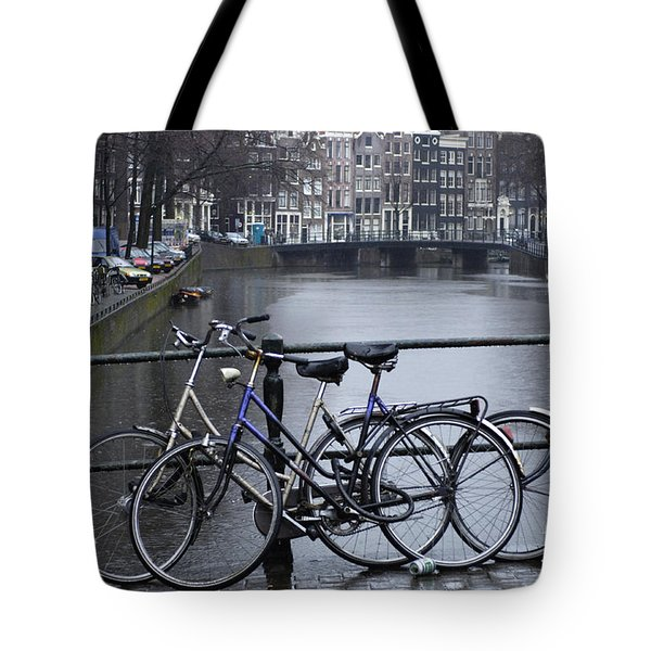 Amsterdam The Netherlands Tote Bag by Bob Christopher