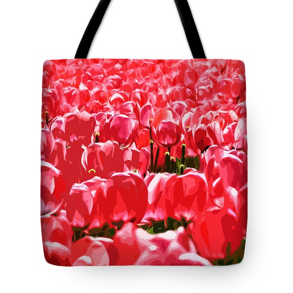 Amsterdam Tulips Tote Bag by Phill Petrovic