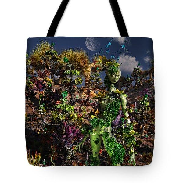 An Alien Being Blending Tote Bag by Mark Stevenson
