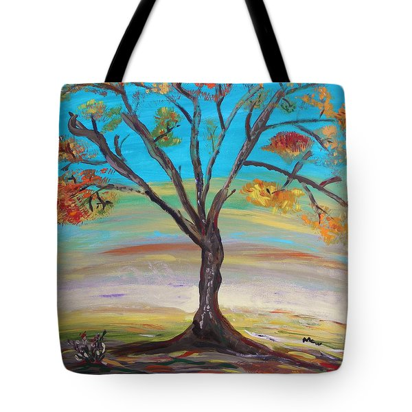 An Autumn Locust Tree Tote Bag