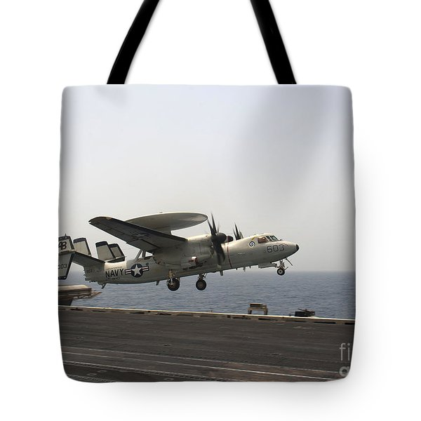 An E-2c Hawkeye Takes Tote Bag by Stocktrek Images