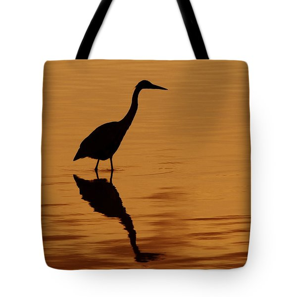 An Early Morning Dip Tote Bag by Tony Beck