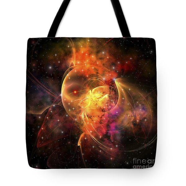 An Emission Nebula Out In Space Forming Tote Bag