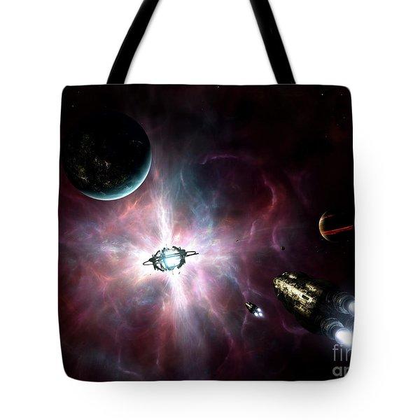 An Enormous Stellar Power Tote Bag by Brian Christensen