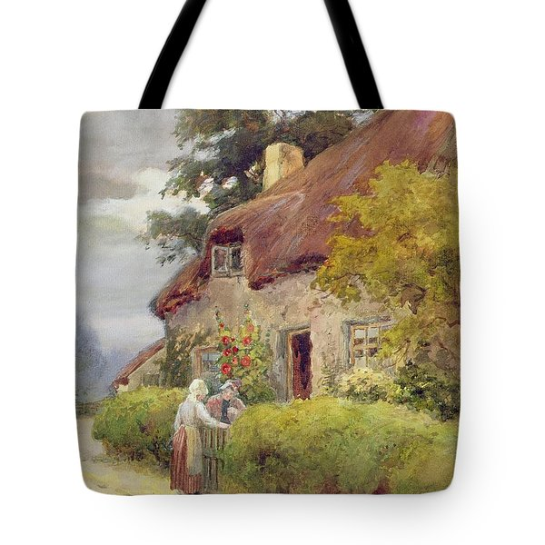 An Evening Gossip Tote Bag by Joshua Fisher